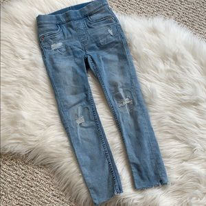 Girls H & M frayed jeans with stretch